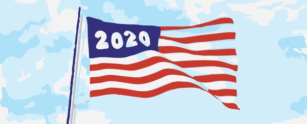 2020 American flag